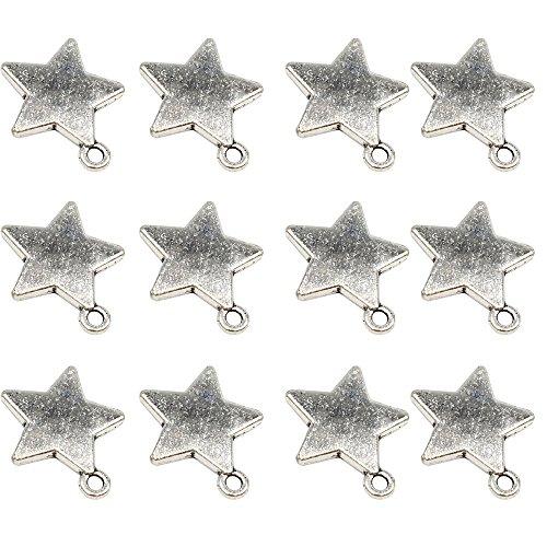 (YYaaloa 50pcs 19mm x16mm Stars DIY Charms Pendant for Crafting Jewelry Making Accessory (50pcs A1278 Star)