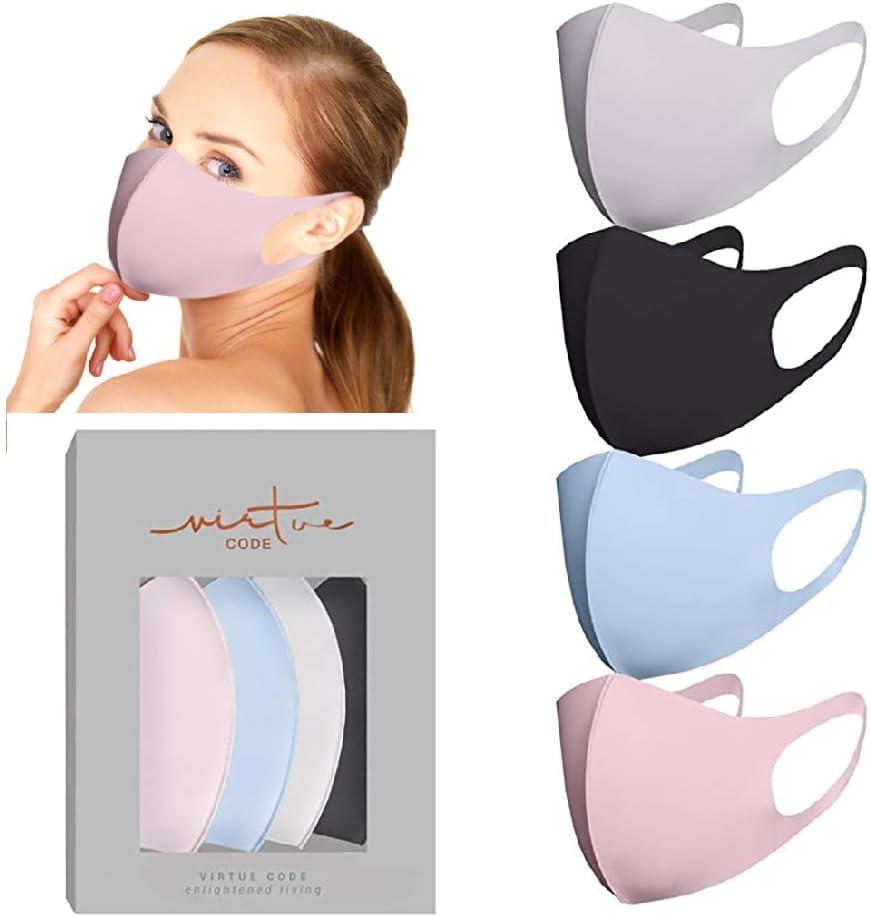 Yue668 𝐌𝐀𝐒𝐊 3/4/5/10pc Escudo Facial Ciclismo, Escudos Protectores Faciales, Babero Facial para Adultos con Teñido Anudado, Bufanda De Seda Hielo Tejida De Algodón Reutilizable Pantalla Facial