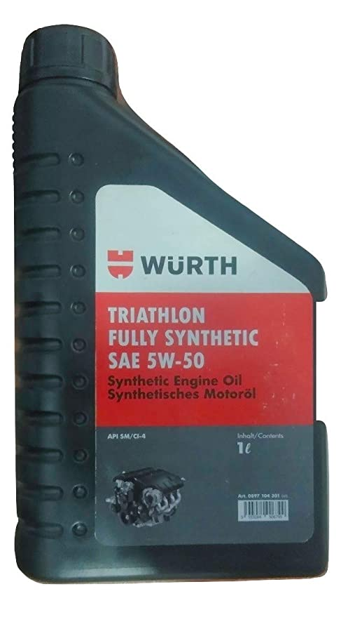 Bmw Recommended Oil >> Wuerth Triathlon Fully Synthetic Sae 5w 50 Car Engine Oil 1