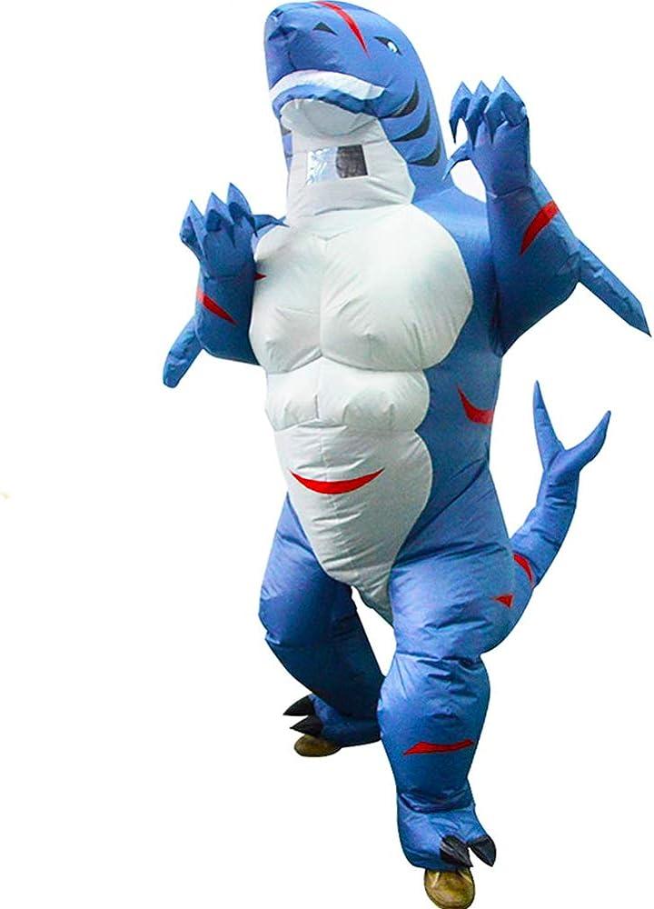 Amazon.com: Disfraz hinchable de tiburón para adulto ...