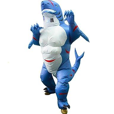 Amazon.com: HUAYUARTS - Disfraz hinchable de tiburón para ...