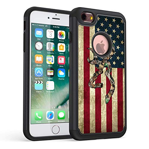 iPhone 6S Plus Case,Rossy Camo American Flag Design Shock-Absorption Hard PC and Soft Silicone Dual Layer Hybrid Armor Defender Protective Case Cover for Apple iPhone 6S Plus/iPhone 6 Plus 5.5