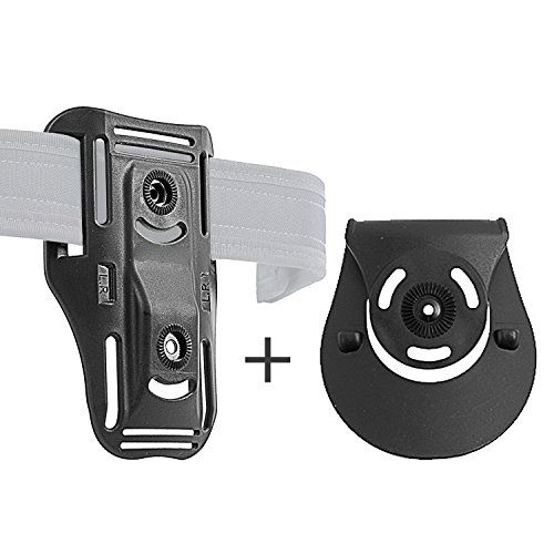 Orpaz Low-Ride Belt & Paddle Attachment, Fits All Holsters & Pouches ()