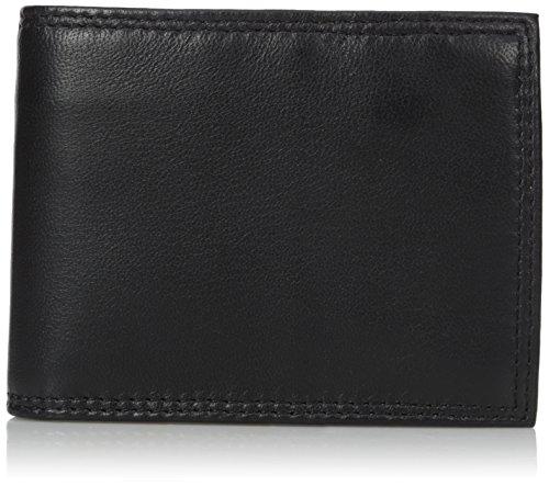 - Buxton Men's Emblem Zip Convertible Nappa Lambskin Wallet, Black, One Size
