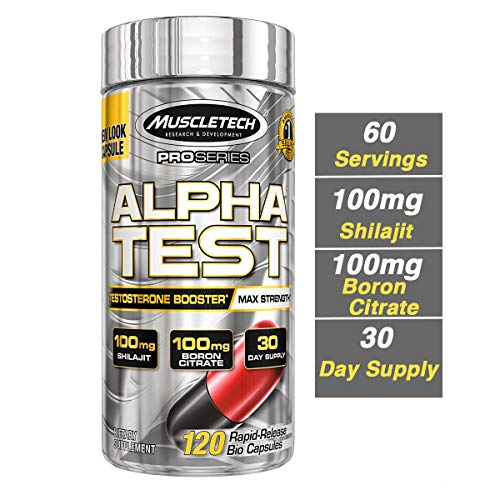 Serum Testosterone Level - MuscleTech AlphaTest ATP & Testosterone Booster for Men, Boost Free Testosterone and Enhance ATP Levels, 120 Count