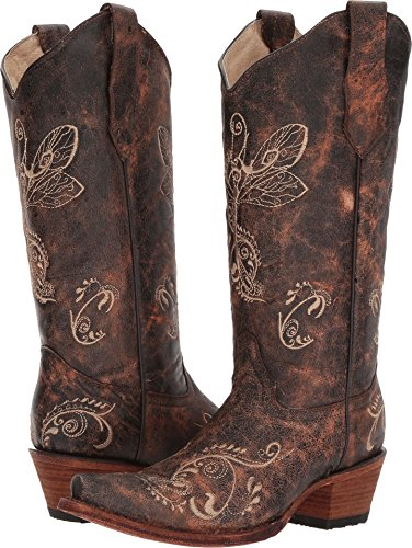 Corral Bone Boots Brown Womens L5001 ppSrA