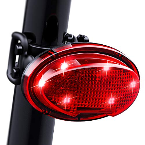 LGEGE LED Bike Taillight Ultra Bright, USB Rechargeable, 7 Lightning Modes, Waterproof, 180 Free Rotationt Bicycle Tail Light