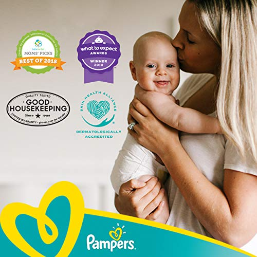 Diapers Newborn/ Size 0 (< 10 Lb), 80Count - Pampers Swaddlers Sensitive Disposable Baby Diapers, Super Pack