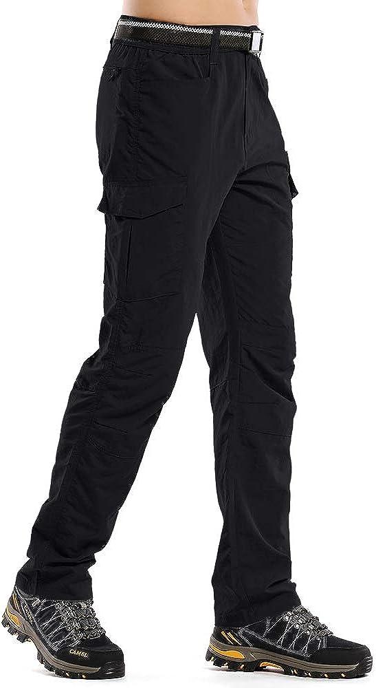 Toomett Mens Outdoor Cargo Hiking Pants Lightweight Waterproof Quick Dry Tactical Pants 6046