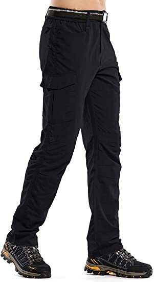 Fulture Direct Mens Outdoor Casual Quick Dry Water-Resistant UV Protection Hiking Fishing Cargo Pants with 8 Pockets