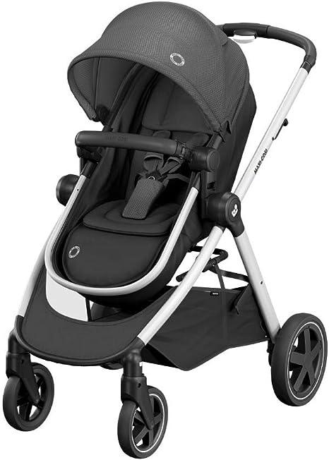 Opinión sobre Maxi-Cosi Zelia Carrito bebé 2 en 1, hamaca se transforma en capazo, cochecito reclinable en posición acostada, fácil sistema de plegado, color essential black