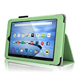 Case for Fire HD 10 - Elsse Premium Folio Case with Stand for the NEW Fire HD 10, 10 Display (Sept, 2015 Release) - Green