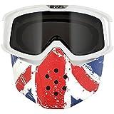 Set Gafas Máscara Union Jack x Cascos Shark Raw