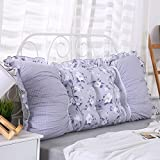 ZfgG Large Bedside Back Cushion Headboard Bedside Cushion Pads Cotton Multifunction Independent Core with Zipper Easy to Clean, 6 Colors, 5 Sizes Comfortable (Color : 6, Size : 100 × 50cm)