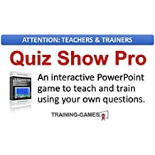 Quiz Show Pro - A Jeopardy style teaching and training game, Add your own questions! Single User Lic.