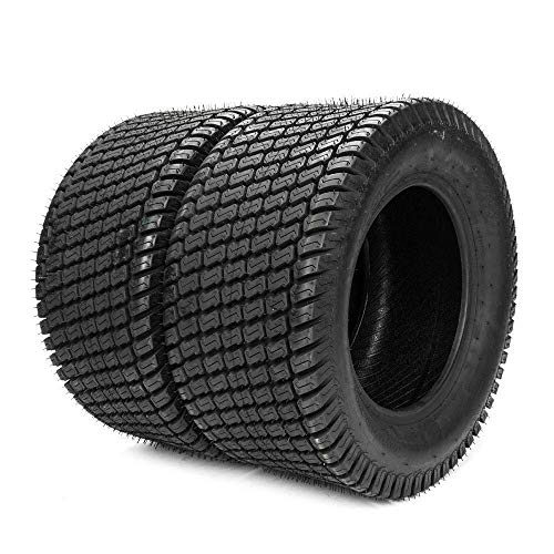 TRIBLE SIX Set of 2 Tubeless Turf Tires 24×12-12 Lawn & Garden Mower Tractor Cart Tires 4Ply P332 24×12.00-12
