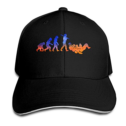 Evolution Funny Cap (ZJXBaseball Cap Sandwich Cap Evolution Funny Geek Durable Baseball Cap Hats Adjustable Peaked Trucker Cap)