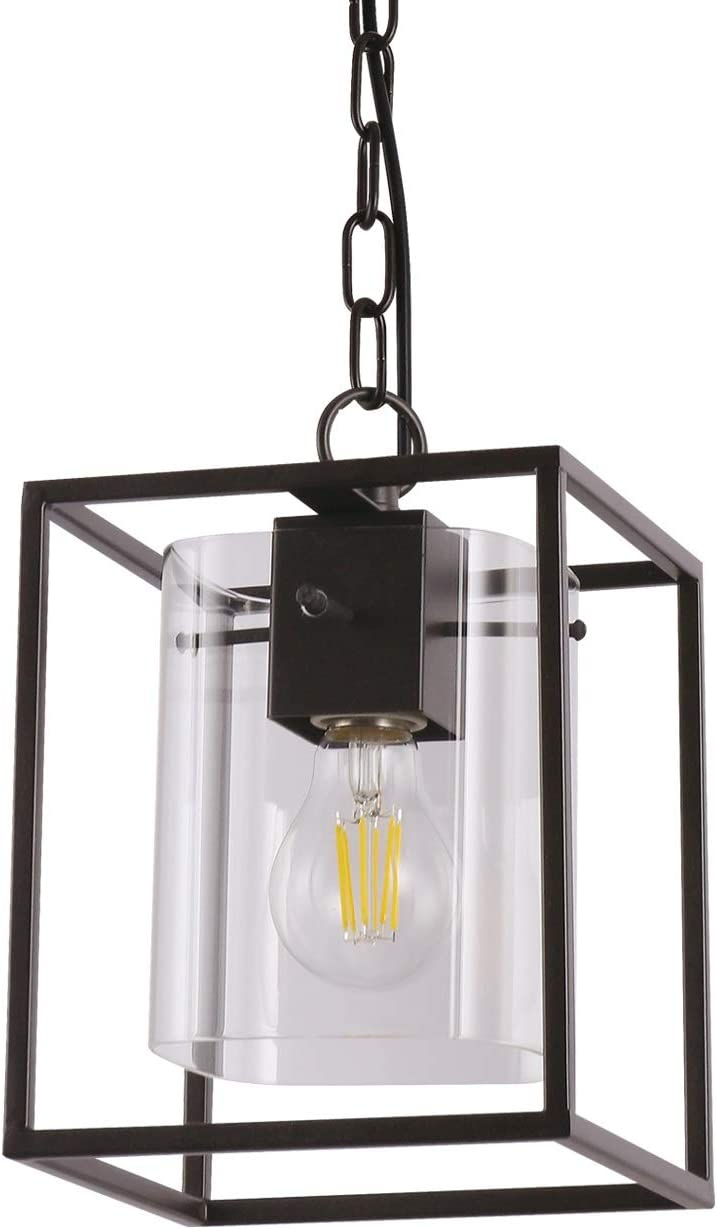 Liylan Pendant Lighting for Kitchen Island Farmhouse Vintage Dinning Room Hanging Light Fixtures Rustic Industrial Oil Rubbed Bronze with Clear Glass