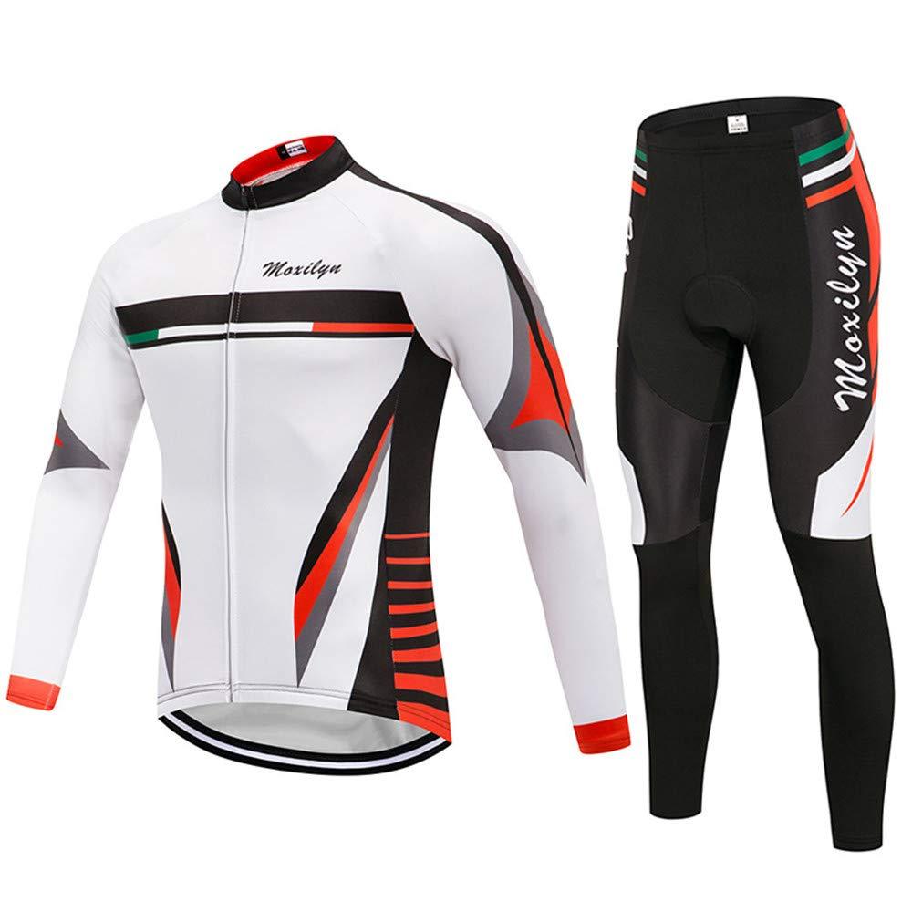 Chengzuoqing Fahrradanzug Herren-Radsport-Anzüge Radtrikots und -Shorts mit Gel-Auflage für Outdoor-Radfahren Atmungsaktive Fahrradbekleidung Sets (Größe   S)