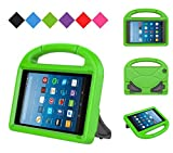 kindle fire protection case - MENZO Kids Case for Fire HD 8 2017, MENZO Light Weight Shockproof Handle Stand Kids Friendly Case for Fire HD 8 inch (2017 released), Green