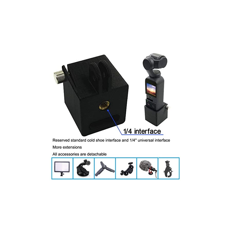 Handheld Gimbal Expansion Tripod Holder Head Mount 1/4 Screw Adapter Camera Bracket for DJI Osmo Pocket