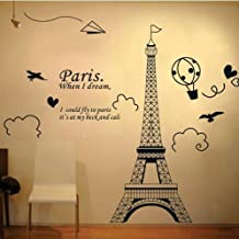 Home Decor Art Large Removable Wall Decals Paris Eiffel Tower Wall Stickers 04
