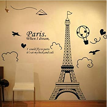Eiffel Tower Wall Stickers - [mariorange.com]