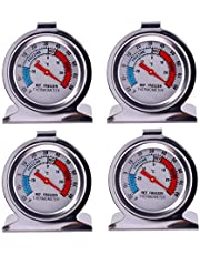 4 Pack JSDOIN Freezer Refrigerator Refrigerator Thermometers Large Dial Thermometer (4 Pack)
