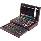 ZagGit 143 Piece Deluxe Art Creativity Set in Wooden Case