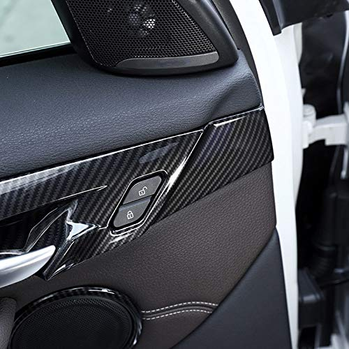 4pcs Carbon fiber For BMW New X1 F48 2016-2018 ABS Plastic Interior Door Decoration Strips Cover Trim For BMW X2 F47 2018 by silutong (Image #2)