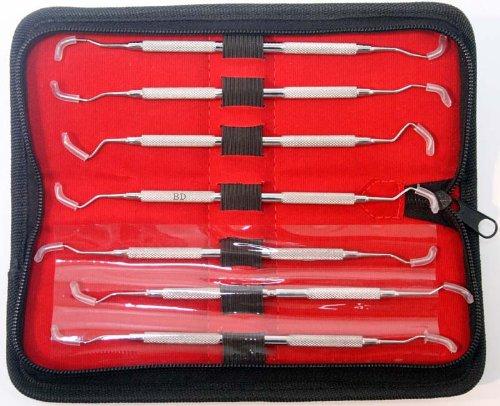 BDEALS Periodontal Gracey Curettes Set of 7 Pcs Dental Instruments Double End