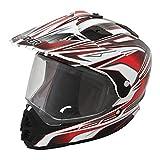 Raider Dual Sport Edge Full Face Helmet (Red, X-Large)