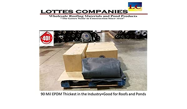 10/' x 30/' 60 MIL WHITE EPDM RUBBER ROOFING