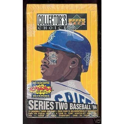 - 1994 Collector's Choice Baseball Series 2 Wax Pack Box Collectors - Upper Deck Certified - Baseball Wax Packs