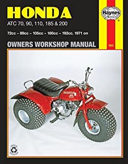 1980-1986 Honda ATC185 ATC200 ATV Repair Service Workshop Manual Book Guide M326