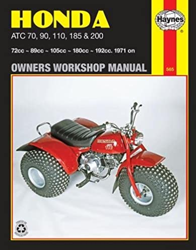honda atc 70 90 110 185 200 1971 on owners workshop manual rh amazon com 1977 Honda ATC 90 1969 Honda ATC 90