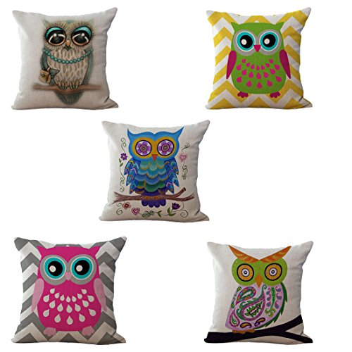 Set of 6 Sofa Cushion Covers, YIFAN Retro Pillowcase Chair Pad Pouch Throw Pillowslip for Home Office Wedding Christmas Party - Set Sofa Retro