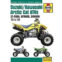 Suzuki/Kawasaki Artic Cat ATVs 2003 to 2009: LT-Z400, KFX400, DVX400