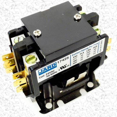 Replacement for Intertherm Double Pole / 2 Pole 40 Amp 24v Condenser Contactor Relay 621432 by Replacement for Intertherm