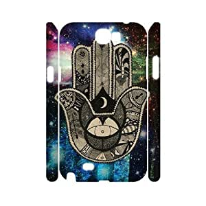 Print Your Own Image Cell Phone Case for Samsung Galaxy Note 2 N7100 - Hamsa Phone Case