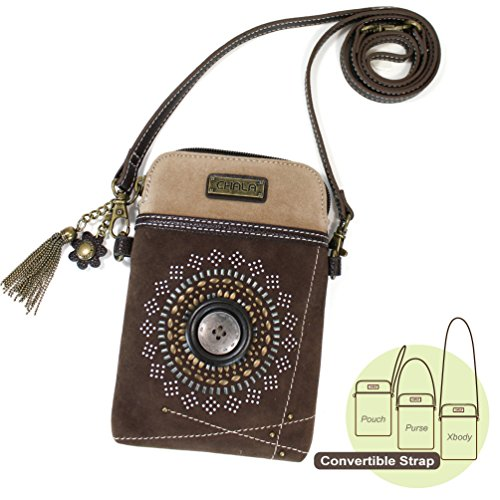Chala Crossbody Cell Phone Purse - Women Faux Suede Multicol