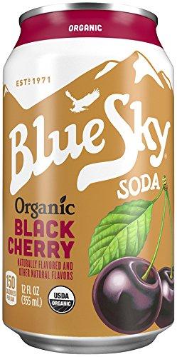 Blue Sky Soda, Organic Black Cherry, 12 Ounce (Pack of 24) - Organic Black Cherry