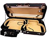 Great Quality Pro. Wooden Double Violin/Viola Case - Fit one 4/4 violin & one viola(Adjustable 15'' to 16.5'')