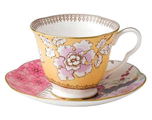 Wedgwood Harlequin Butterfly Bloom Floral Bouquet Cup and Saucer Set (Whimsical Tea Sets)