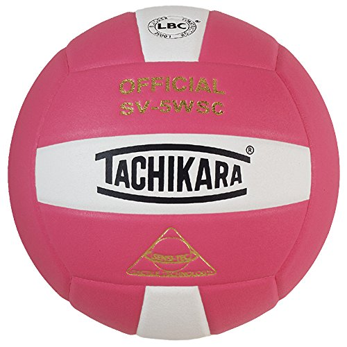 Tachikara SV5WSC Sensi-Tec composite, colorful high performance volleyball (pink/white)