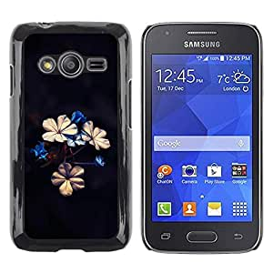 Be Good Phone Accessory // Dura Cáscara cubierta Protectora Caso Carcasa Funda de Protección para Samsung Galaxy Ace 4 G313 SM-G313F // Beautiful Flowers