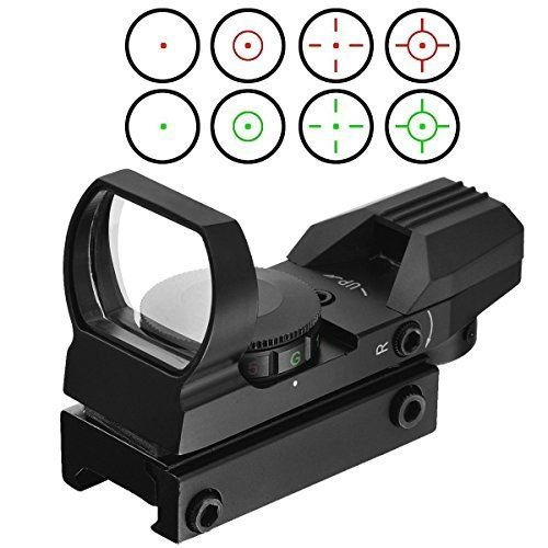Feyachi Tactical Red Dot Sight 4 Reticles Green & Red Reflex Sight for Rifle Gun with Weaver Picatinny Rail Mount