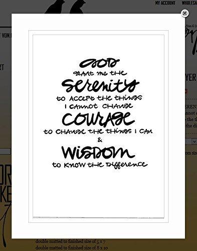 Serenity Prayer Print (Von.G Art: Original
