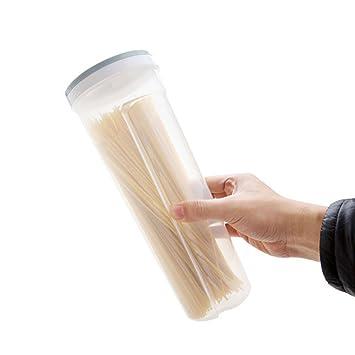 Caja de almacenamiento multifunción con diseño de carpintero para guardar alimentos, para cubiertos y cajas de espaguetis, azul claro, 10.5 * 28.6cm: ...