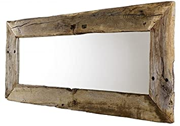 Unikat spiegel aus eiche altholz cm breit